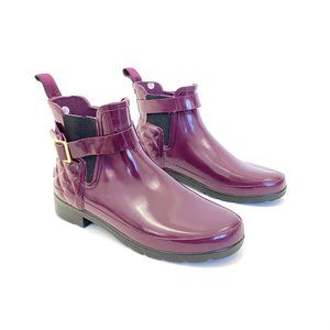 Hunter Oxblood Refined Gloss Chelsea Rain Boots